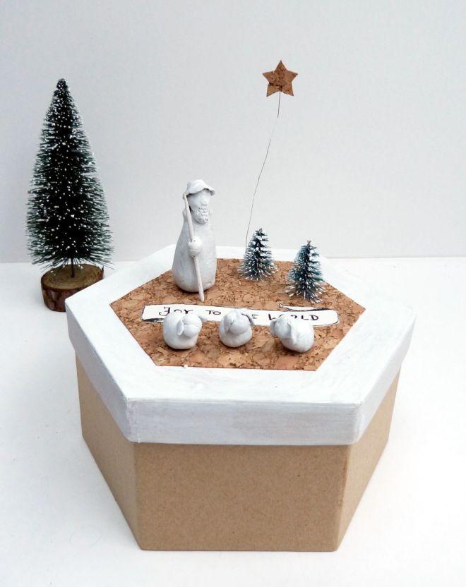 DIY Krippenfiguren auf Keksdose