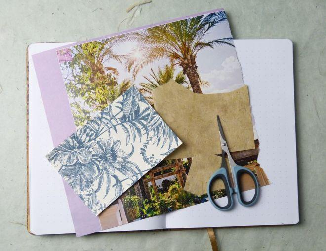 Mixed Media Collage fürs Art Journal
