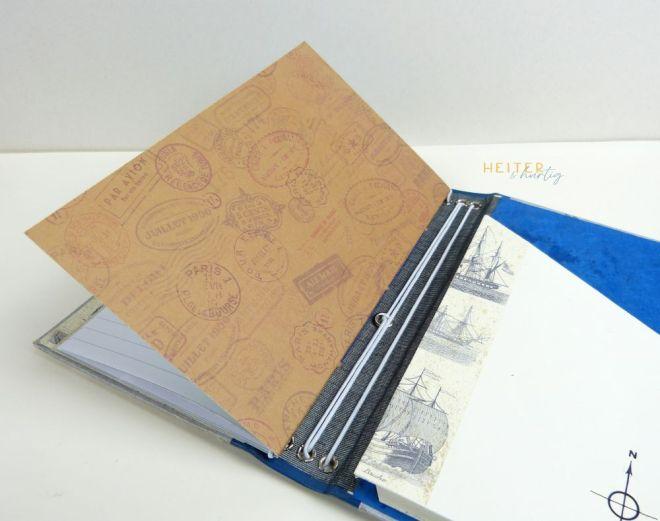 DIY Notizbuch mit Gummibändern