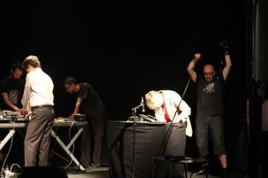 2013. Performing with Bruce Geduldig at TAPE, Passos Manuel, Porto.