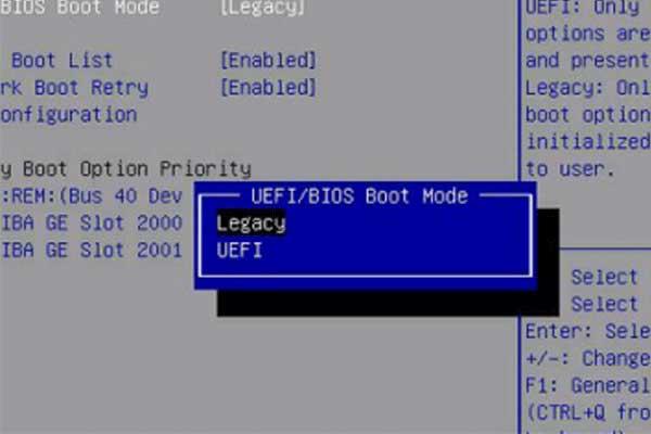 Perbedaan UEFI dan Legacy