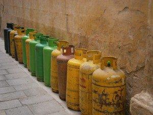 Lagerung von Gasflaschen
