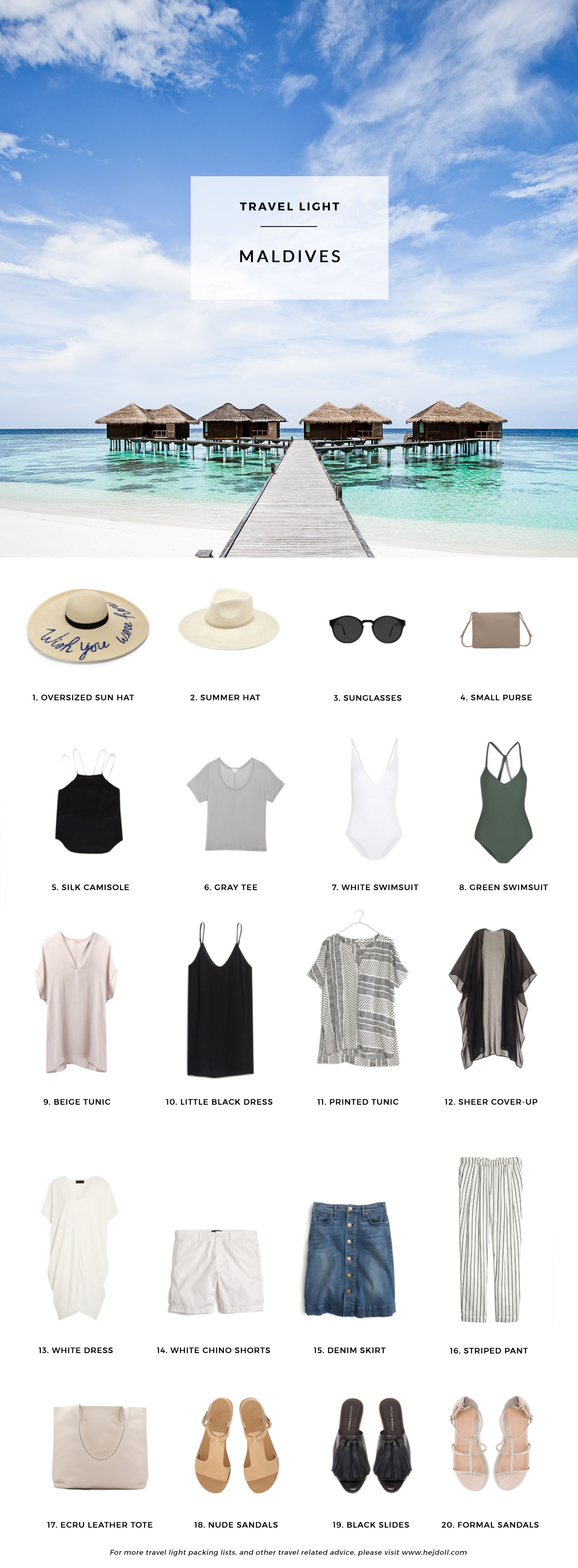 Pack For The Maldives Hej Doll Simple Modern Living By Jessica Doll