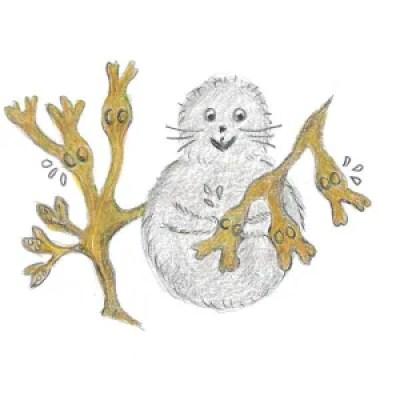 Illustration av Noriko med blåstång