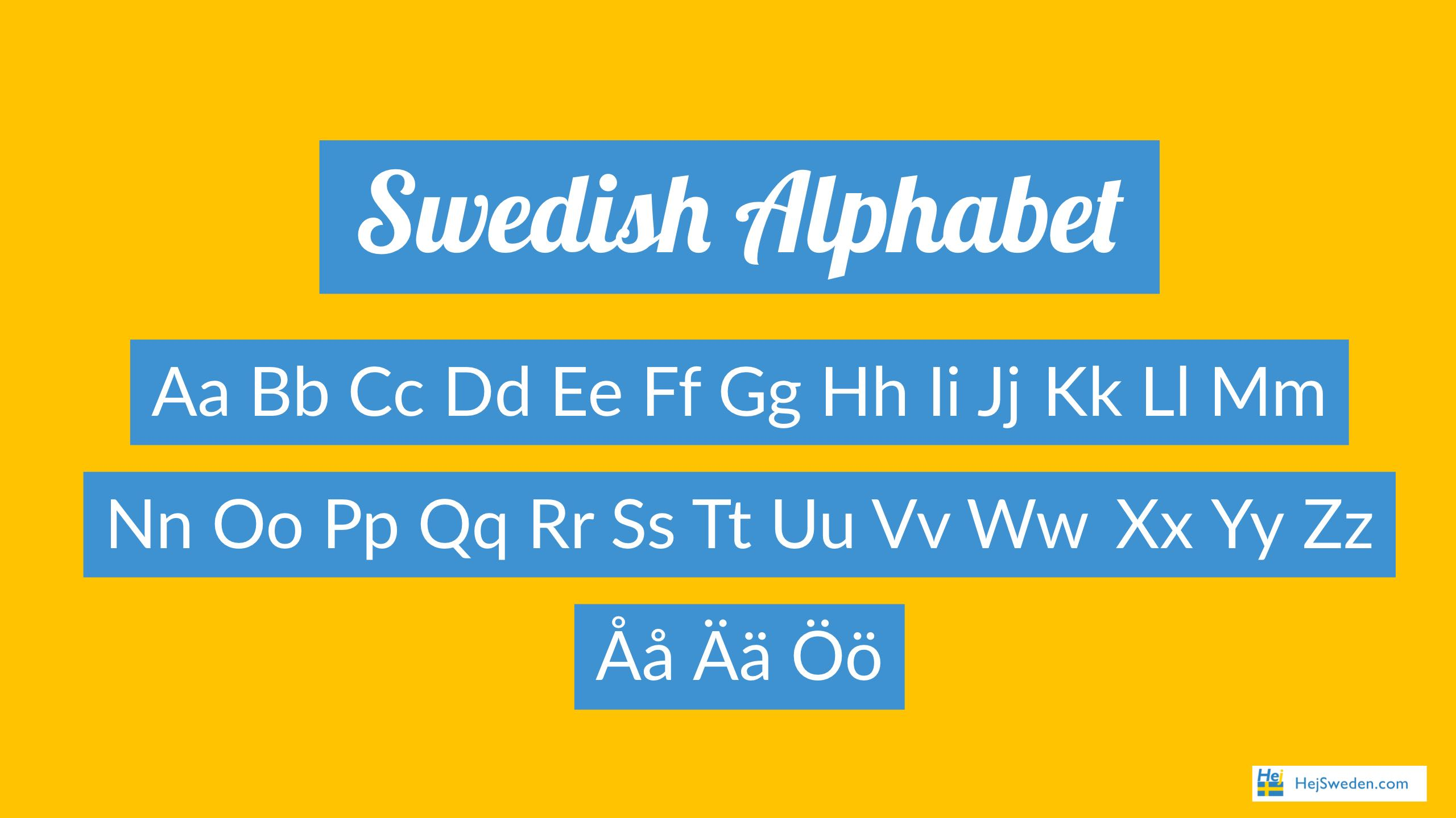 Swedish Alphabet How To Pronounce Each Letter Correctly Hej Sweden