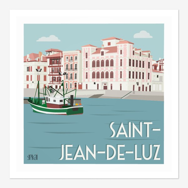 Affiche Saint-Jean-de-Luz Maison de l'Infante