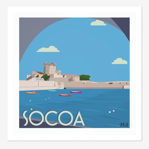 Affiche Fort de Socoa au Pays-Basque