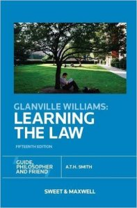 Glanville Williams Learning the Law - ATH Smith