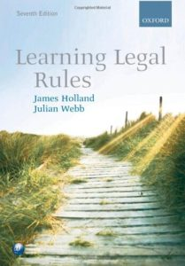 Learning Legal Rules by James Holland