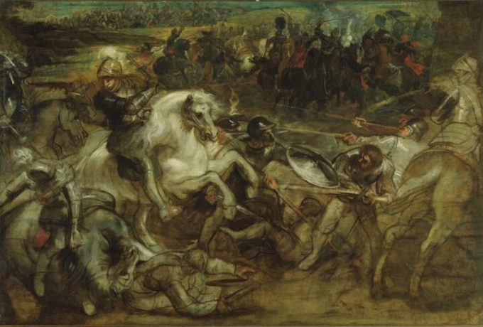 In 1630, a very frustrated Peter Paul Rubens quit working on this large canvas depicting Henri IV at the Battle of Ivry. Courtesy of The Met Breuer Museum