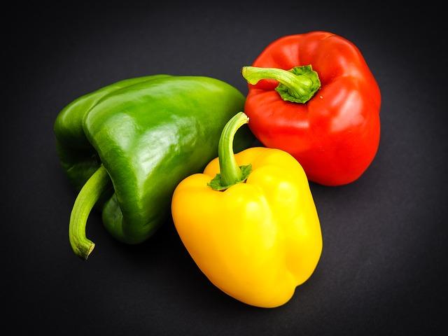 甜紅椒含有大量維生素C