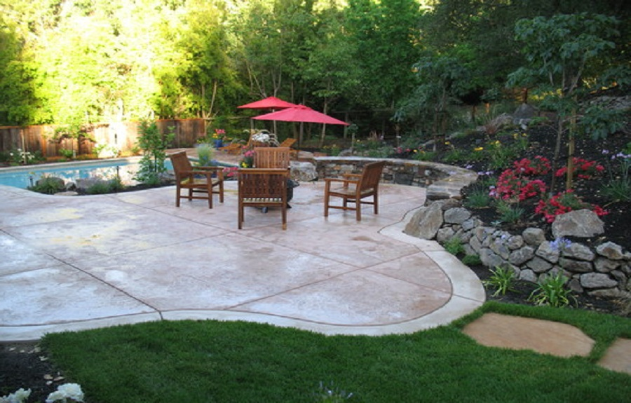 backyard stamped concrete patterns
