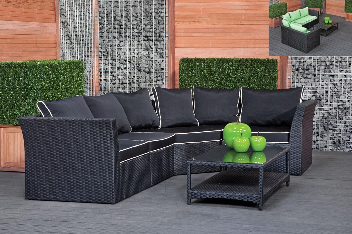 black rattan garden furniture cool