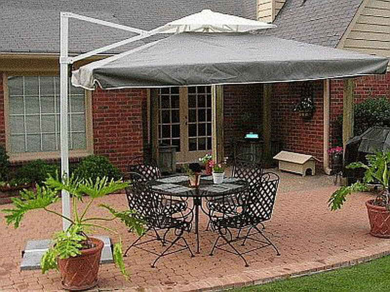 brown single stand outdoor patio