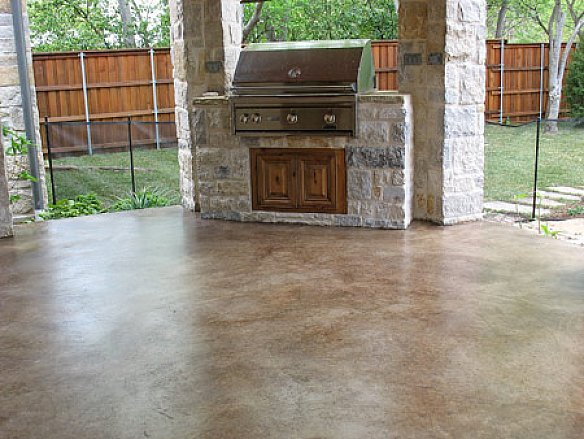 easy painting concrete patio in