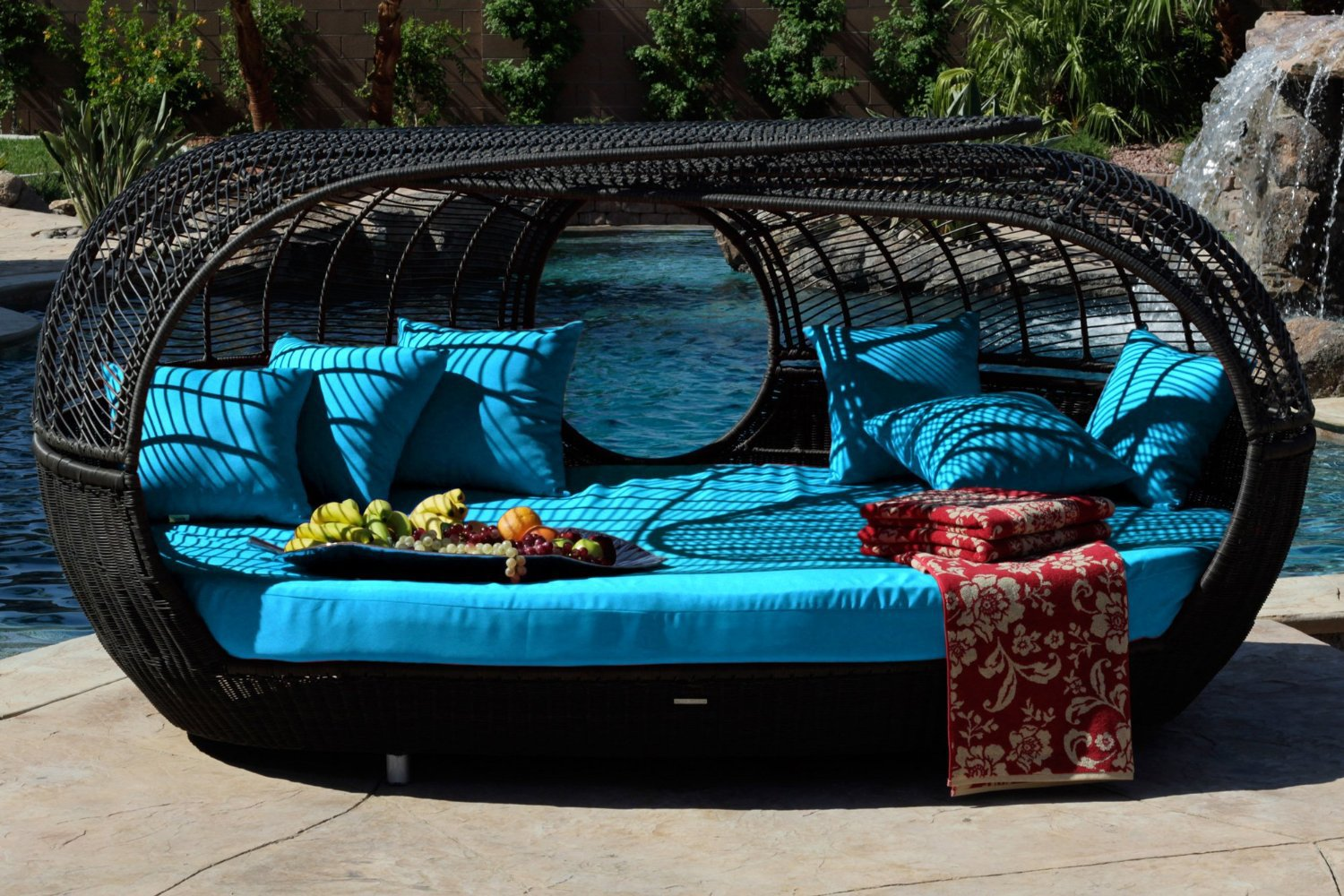 best blue patio chairs and wicker patio