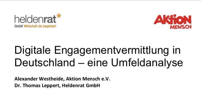 Studie: Digitale Engagementvermittlung in Deutschland