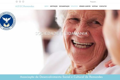 Site Associação Desenvolvimento Social e Cultural de Remondes