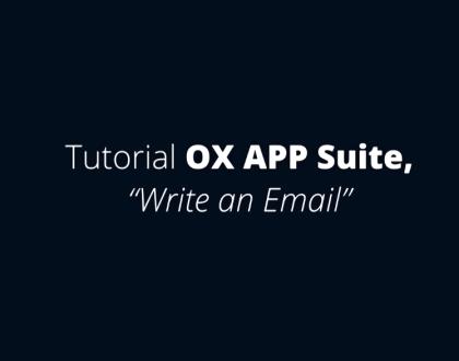 OX APP Suite - Escrever um email