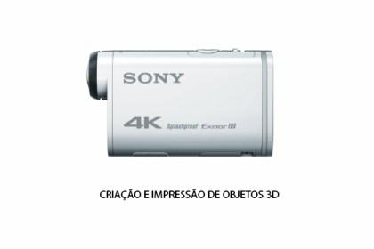 Peças 3D - Acessório Fixação câmara Sony ActionCam FDR X3000 Gimbal ZHIYUN SMOOTH Q