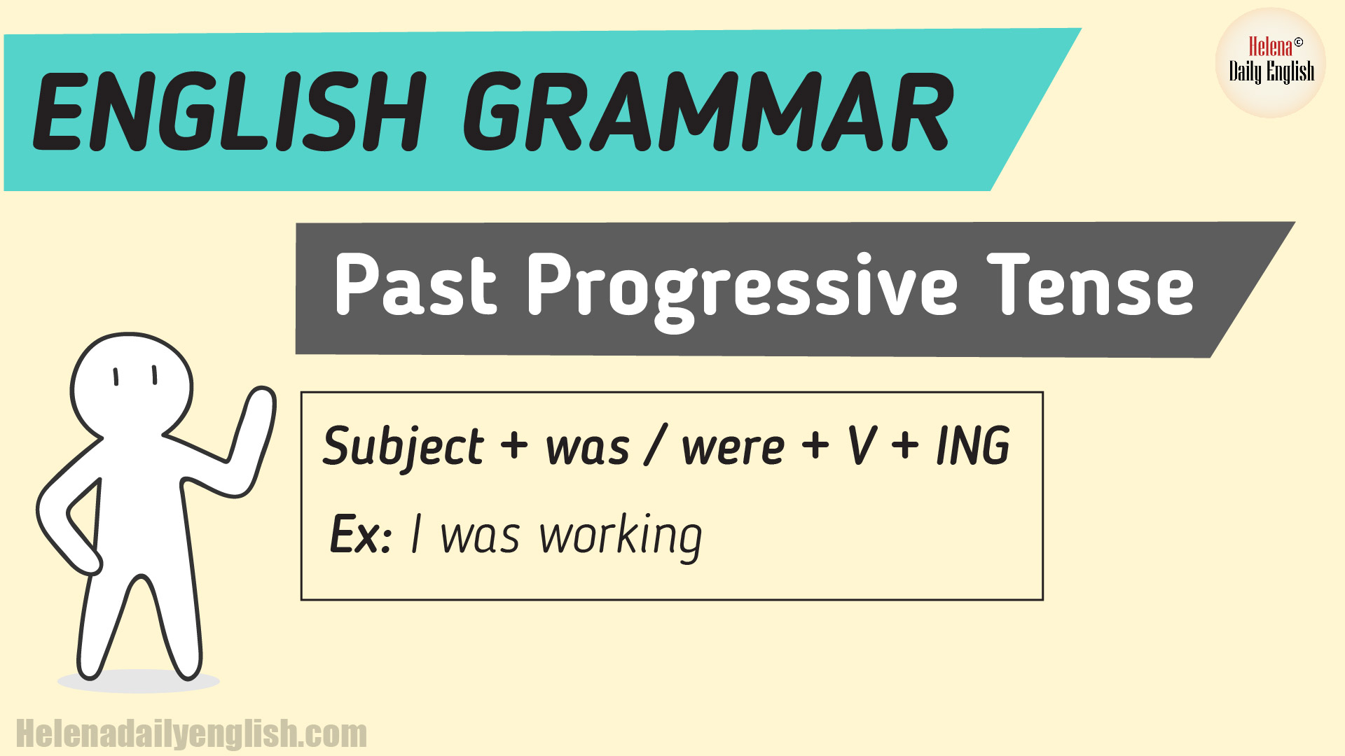The Past Continuous Tense Example Amp Explanation English
