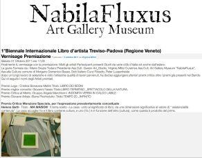 Ma maison, Primé à la 1° Biennale du Livre d'Artiste Treviso Padova, 2011