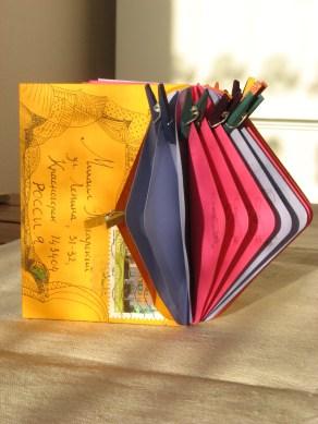"""MailArtBook """"Dangerous Liaisons - OC"""" 2012©HelenaGath - Conservé aux Archives du Livre d'Artiste de Moscou (M.Pogarsky)"""