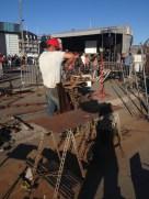 NDS 2015 Le corps de la sculpture est monté, JieM travaille la tête...