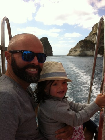Very happy daytrippers doing the coast of Ponza