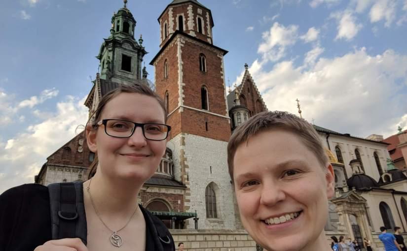 Weekend i Kraków med Ann, geocaching och veganmat, del 1: fredag i Göteborg och lördag i Stare Miasto