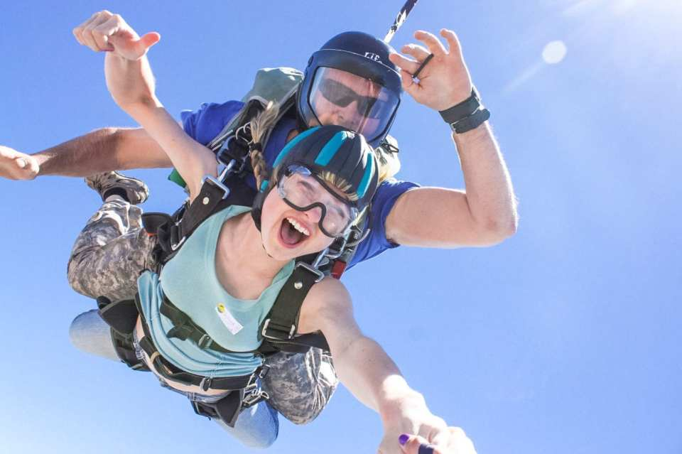 "skydive lake elsinore How to Make the Most of Our Twenties and the ""exploring years"" twenty two year old blogger and photographer shares best tips on high risk, high reward and taking leaps of faith Helena Woods"