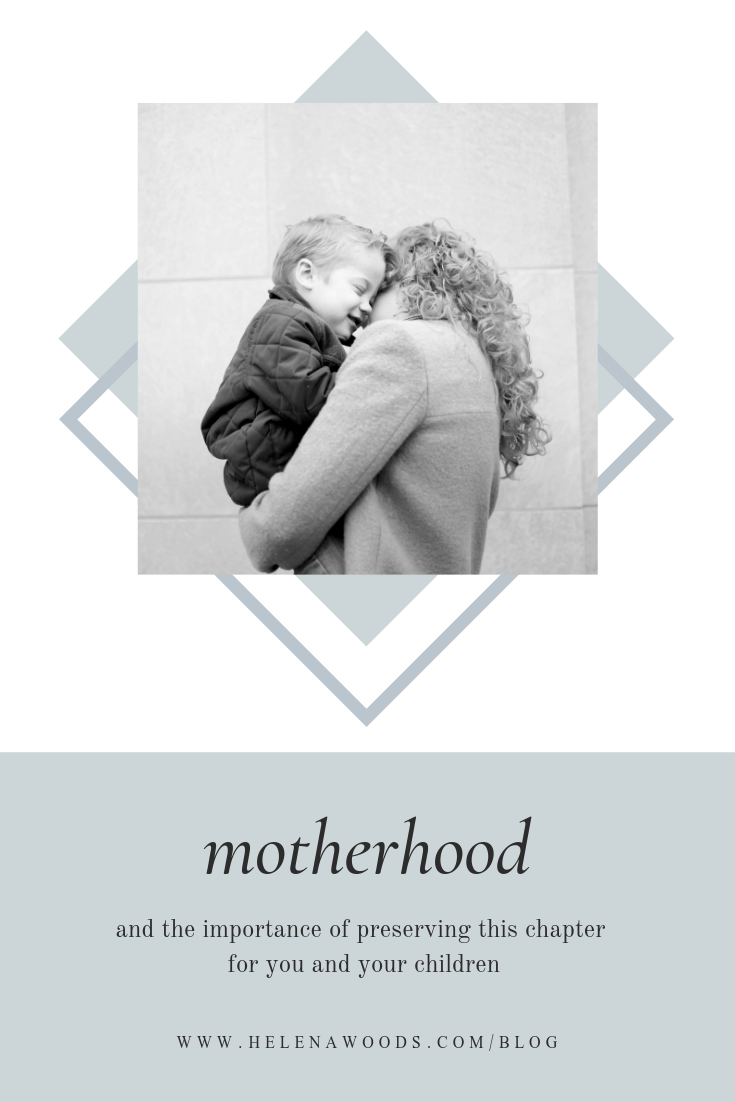 Motherhood and the importance of preserving memories for children with premier Connecticut baby family photographer Helena Woods