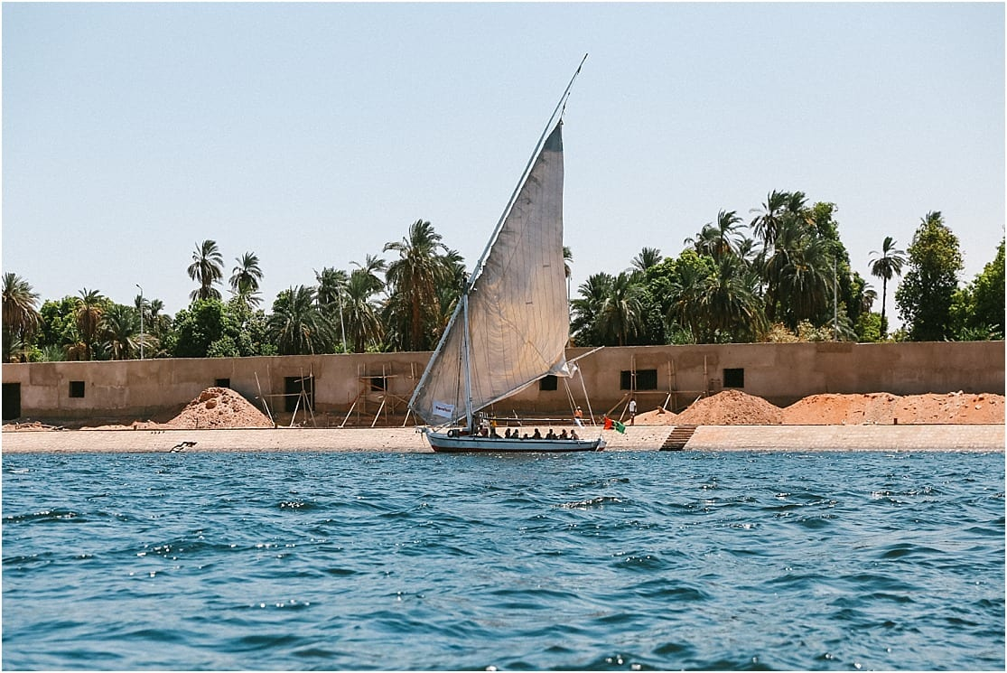 Sailboat in the nile river with Travel Talk Tours Felucca Odyssey