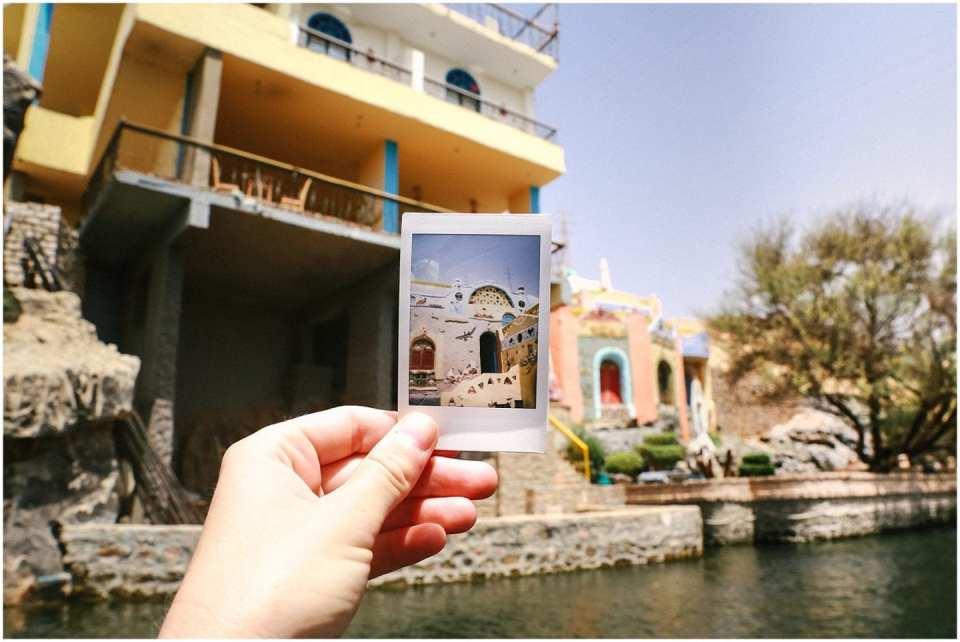 Polaroid Photo of Nubian Village Aswan Egypt
