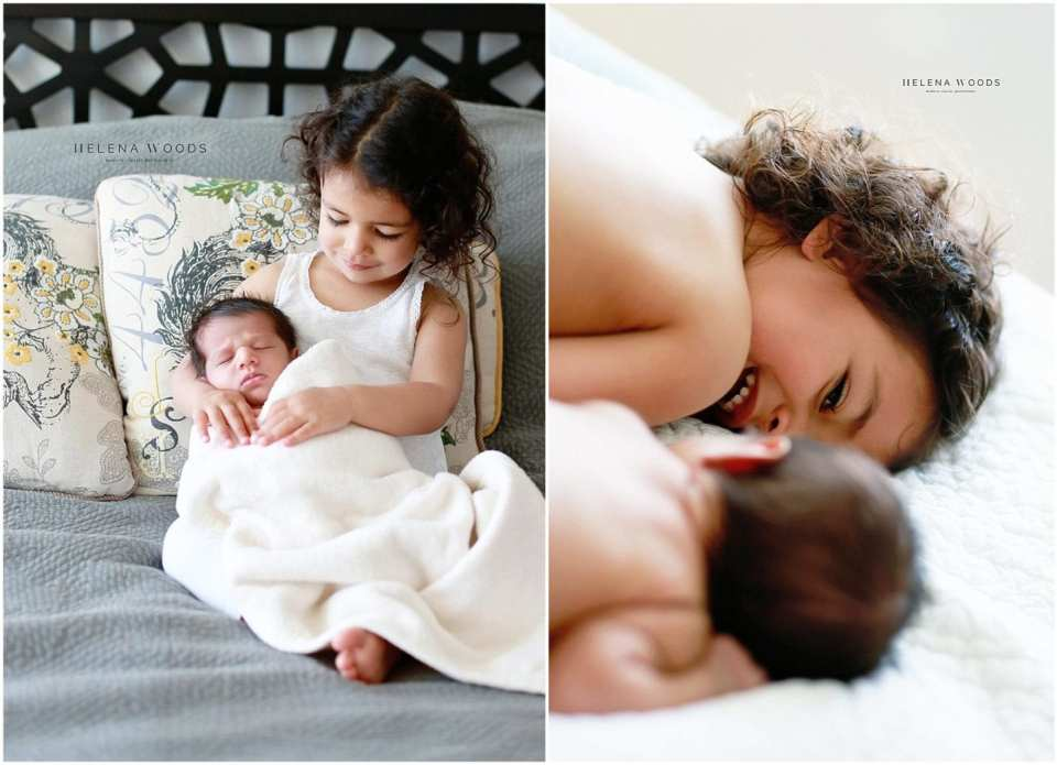 child and newborn siblings with connecticut lifestyle newborn phototgrapher helena woods