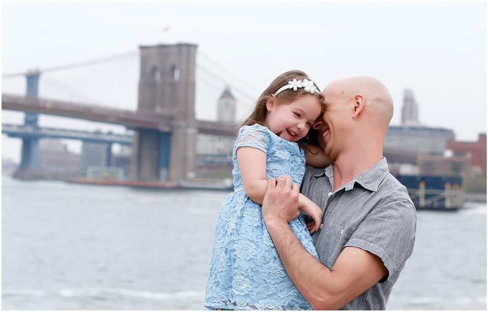 Helena Woods Brooklyn Bridge Manhattan NYC Family Photographer Father's Day