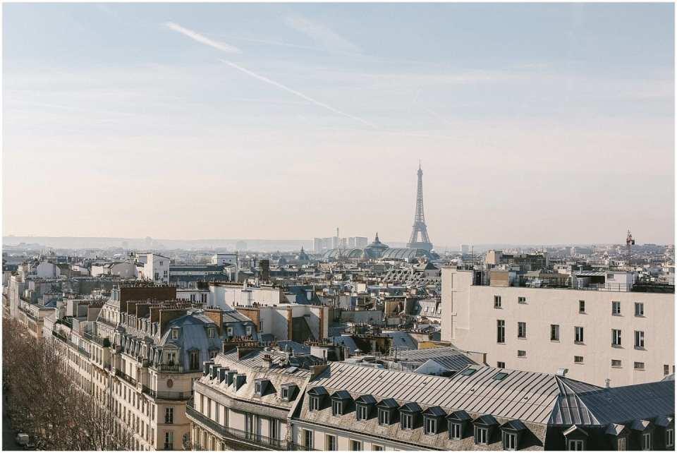 Paris Effiel Tower view from Galleries Lafaytte