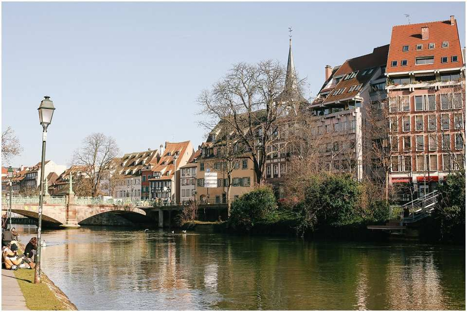 Strasbourg France and the picturesque village of Petite France canals