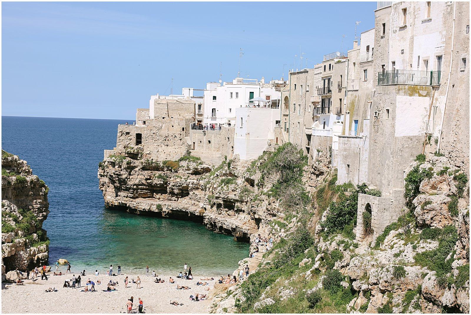 polignano a mare italy coastline and cliffs