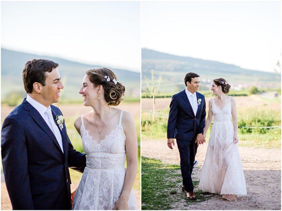 Alsace France Vineyards Wedding portrait by photographer Helena Woods