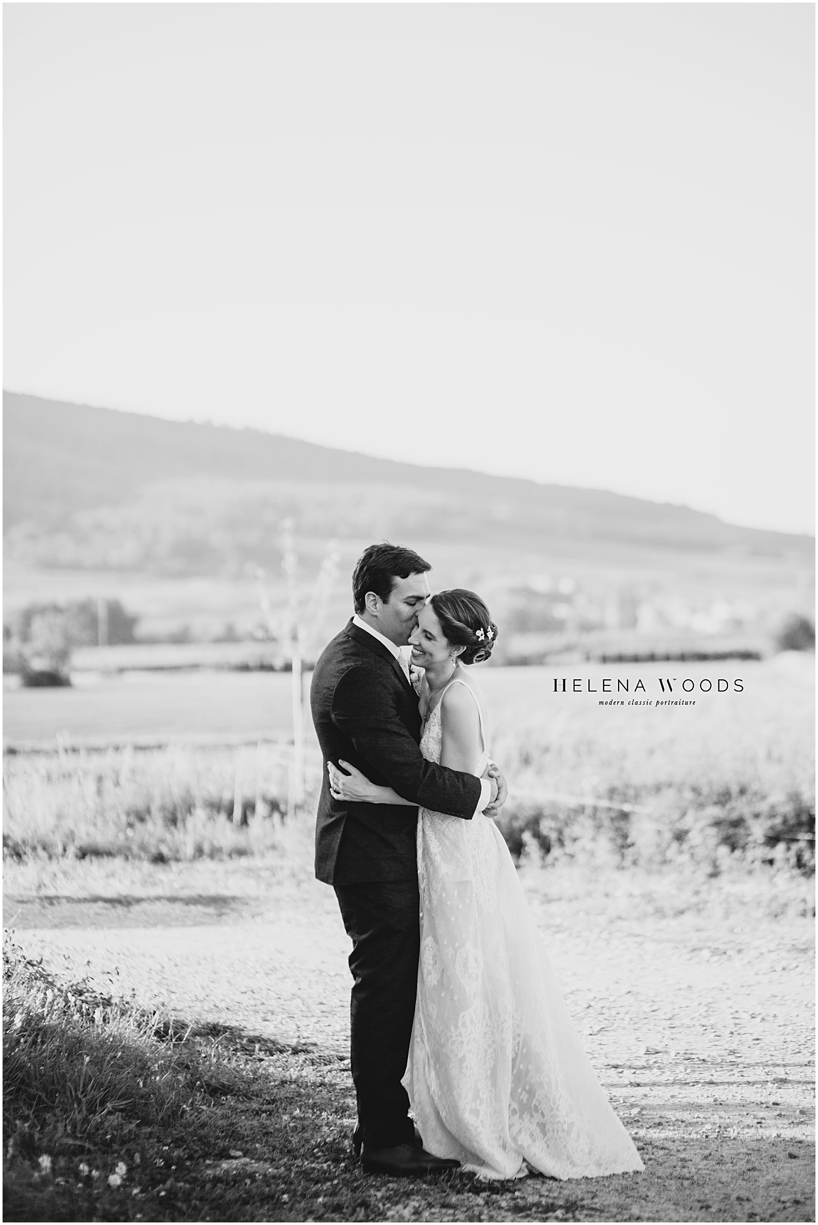 bridal portraits at Achilles Domaine vineyards photographed by wedding photographer Helena Woods