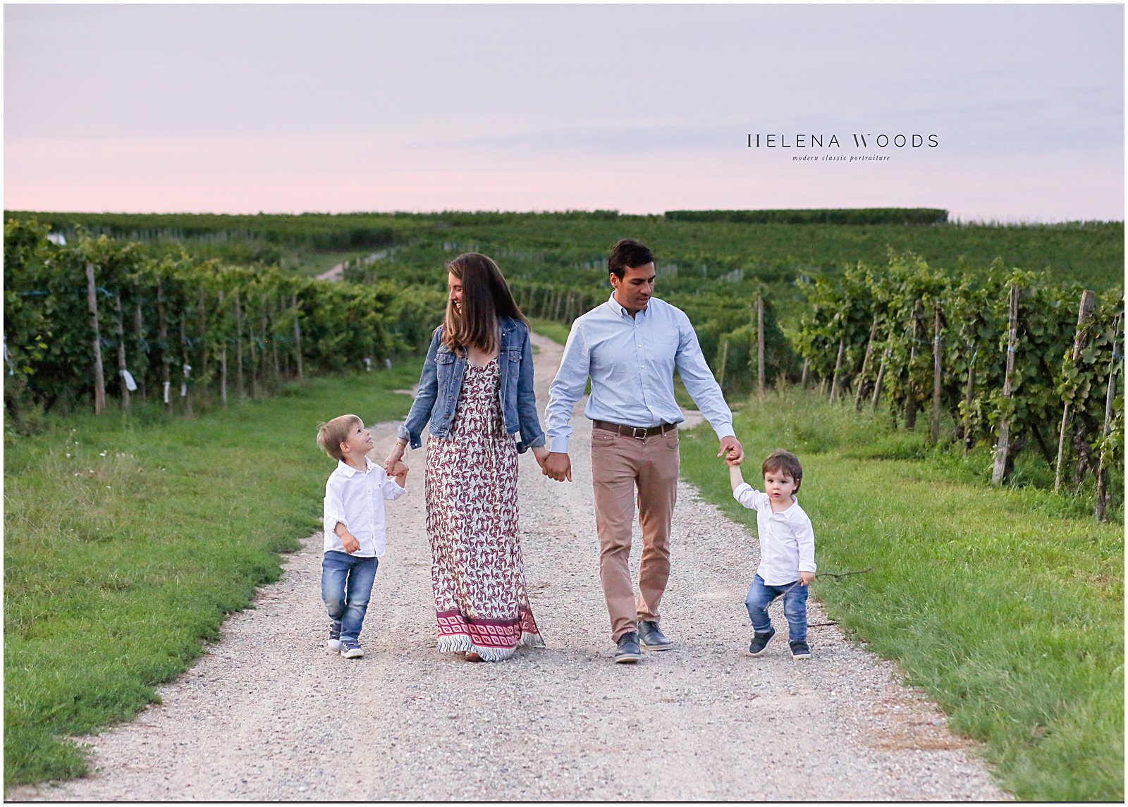 portraits in the vineyards of Wettolsheim Alsace France with Family Photographer Helena Woods