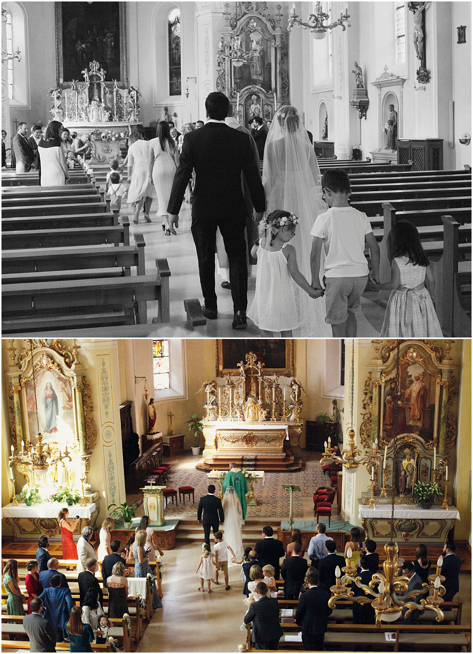 Wedding at Wattwiller Church Alsace France photographed by Helena Woods