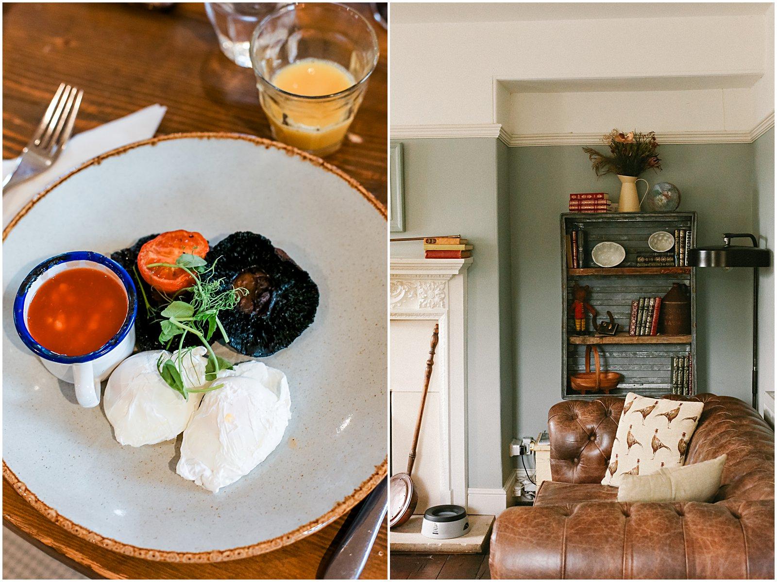 breakfast at Widbrook Grange Hotel in Wiltshire