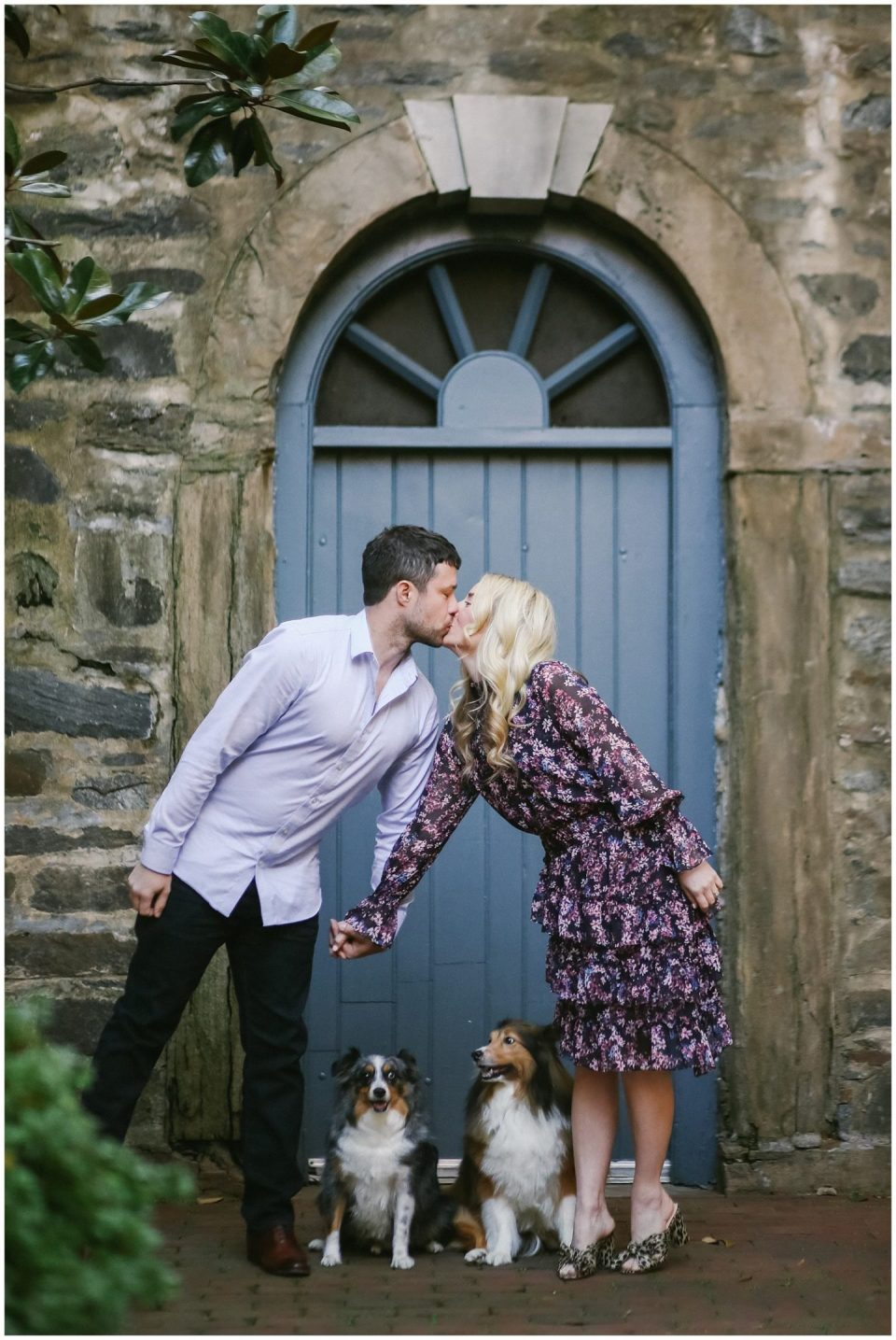 engagement photo session at the Carlyle House with Old Town Alexandria family photographer Helena Woods