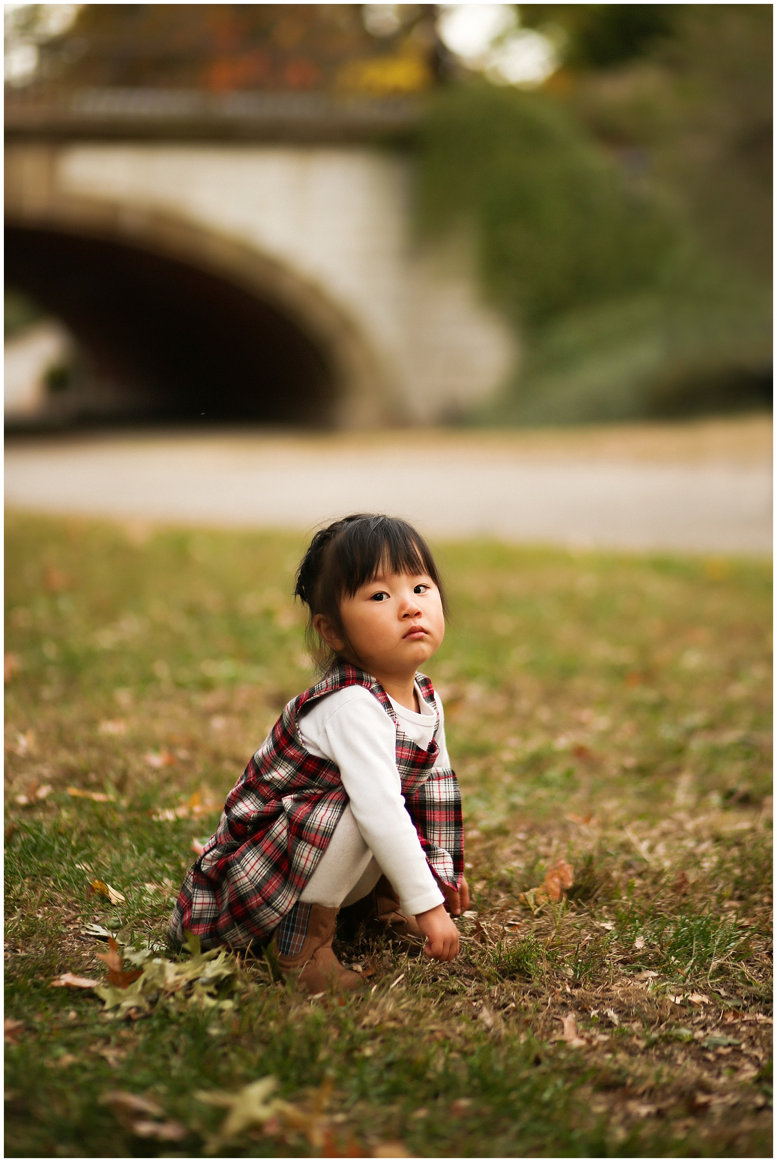 toddler pouting in Central Park for nyc family photographer helena woods