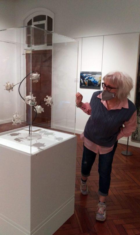 Artist viewing the Coronavirus