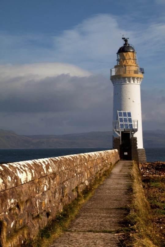 Rubha nan gall lighthouse tobermory Mull Scotland uk