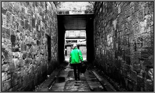 Hidden lane glasgow colorpop b&w