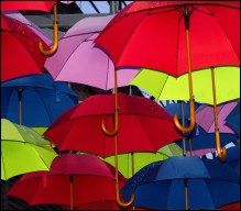 rainy day bankside southbank london uk